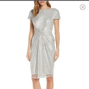 Tadashi Shoji sequinned lace evening dress